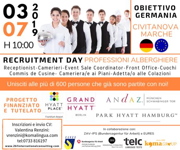 Recruiting Day Professioni Alberghiere – Civitanova Marche, 03 Luglio 2019